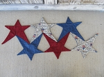 Primitive Americana Patriotic Star Hand Made Table Runner