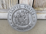 Vintage Antique United States of America Spirit of 76 Centennial Pewter Plate 8