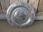 Primitive Colonial The Bicentennial of the United States of America 1776-1976 Flag Willard York Metalcraft Pewter Plate