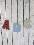 Fabric Cloth Alphabet Letters Hand Made Set of 26