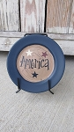 Primitive Americana Patriotic Stars Mini Word Plate