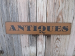 Primitive Antiques Hand Painted Wooden Sign with Color Choices
