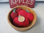 Primitive Country Hand Made Apple Bowl Fillers Set of 3