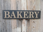Primitive Farmhouse Bakery Hand Painted Sign with Color Options