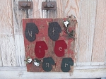 Primitive Rustic Winter Mittens on Old Barn Board Wooden Sign Medium