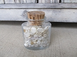 Antique Lillian Russells Bath Jar Made in Italy full of Vintage Antique White Sewing Buttons