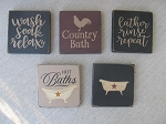 Primitive Hand Painted Choice of Bathroom Sign Plaques Pick Your Favorite