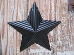 Primitive 6 Inch Corrigated Black Barn Star