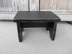 Primitive Decorative Black Distressed Step Stool