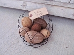 Primitive Country Farm Fresh Brown and Tan Egg Bowl Fillers Set of 7