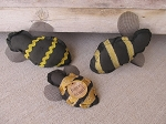 Primitive Bumble Bee Bowl Fillers Set of 3