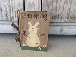 Primitive Country Bunny Rabbit and Butterfly Hand Painted Vintage Book