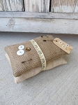 Primitive Rustic Farmhouse Burlap and Linen Pillow Stack Bundle