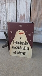 Primitive In the Meadow We can Build a Snowman Hand Painted Vintage Book