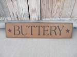 Primitive Buttery Hand Painted Horizontal Sign with Color Options