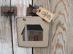 Primitive Rustic Northwoods Lodge Log Cabin Hand Painted Sign Plaque