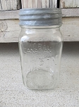 Antique Vintage Canadian Bocal Brand Pint Jar with Antique Zinc Lid