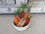 Primitive Spring Easter Carrot Bowl Fillers Set of 5