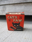 Vintage Antique Cat's Paw Replacement Rubber Heels Box with Contents New Old Stock