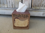 Primitive Country Farm Chicken Hen Hand Painted Tissue Box Cover