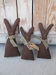Primitive Spring Chocolate Bunny Bowl Fillers Set of 3