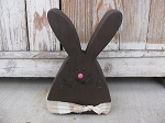 Primitive Country Chunky Bunny Rabbit-Chocolate