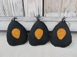 Primitive Hand Made Chubby Crow Set of 3 Bowl Fillers
