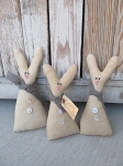 Primitive Country Cream Bunny Rabbit Bowl Fillers Set of 3