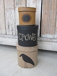 Primitive Crow and Sunflower Hand Painted Set of 3 Oval Stack Boxes