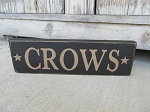 Primitive Crows with Stars Hand Painted Wooden Sign with Color Choices