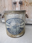 Antique Primitive Cudahy's Milwaukee Pure Lard Tin Canister