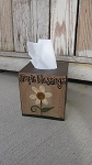 Primitive Daisy Spring Summer Hand Painted Tissue Box Cover