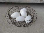Antique Vintage Farm House Primitive Wire Collapsable Egg Basket