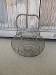 Antique Vintage Farm House Primitive Wire Egg Basket