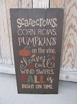 Primitive Fall is Right On Time Autumn Hand Painted Pallet Sign