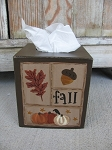 Primitive Autumn Fall Sampler Tissue Box Cover