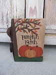 Primitive Autumn Fall Tree and Pumpkin Patch Hand Painted Vintage Book