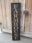 Primitive Vertical Farmhouse Hand Stenciled Wooden Sign with Color Options