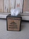 Primitive Christmas Feather Tree Hand Painted Tissue Box Cover
