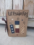 Primitive Country Americana Patriotic Firecrackers Hand Painted Vintage Book