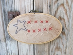 Americana Flag Stitchery in Oval Needlepoint Frame