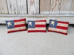 Primitive Patriotic American Flag Pillow Bowl Fillers Set of 3