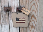 Primitive American Flag  Hand Painted Sign Plaque