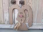 Primitive Floppy Eared Country Wooden Bunny Rabbit