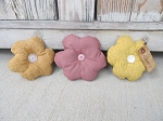 Primitive Country Spring Flower Bowl Fillers Set of 3