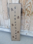 Primitive Gingerbread Vertical Wood Sign with Mini Gingerbread Men