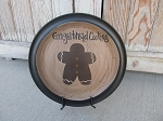 Primitive Country Gingerbread Hand Painted Plate