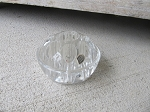 Antique Vintage Shabby Chic Garden Glass Medium Round Flower Frog
