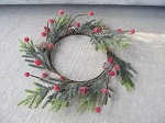 Primitive Mountain Pine With Berries Wreath