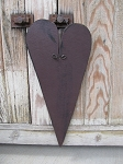 Primitive Wood Hanging Burgundy Heart